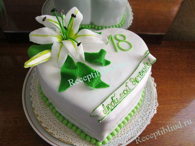 Торт с цветами своими руками